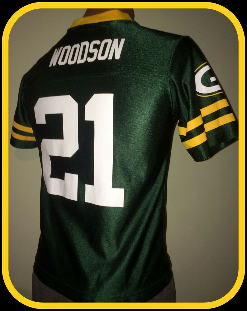 14876d8e CHARLES WOODSON GREEN BAY PACKER NFL TEAM APPAREL YOUTH LARGE ...