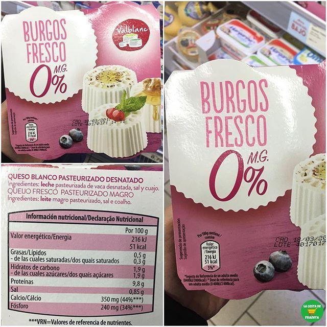 Queso burgos desnatado mercadona valor nutricional