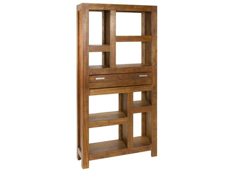 Estantería grande de madera estilo colonial Ohio Estanterías