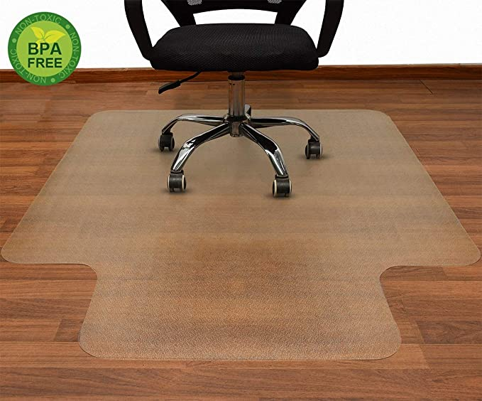 Amazon Com Aibob 53 X 45 Inches Office Chair Mat For Hardwood Floor Easy Glide For Chairs Flat Without Curling In 2020 Office Chair Mat Chair Mats Hardwood Floors