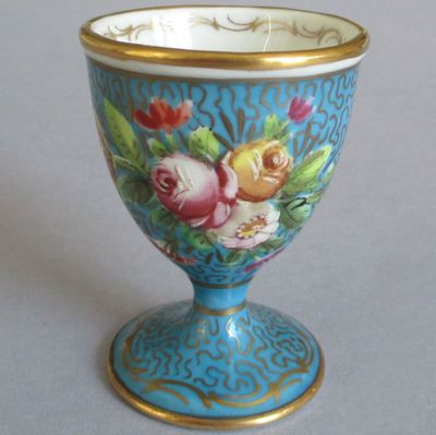 Antique Sevres Porcelain Roses Egg Cup
