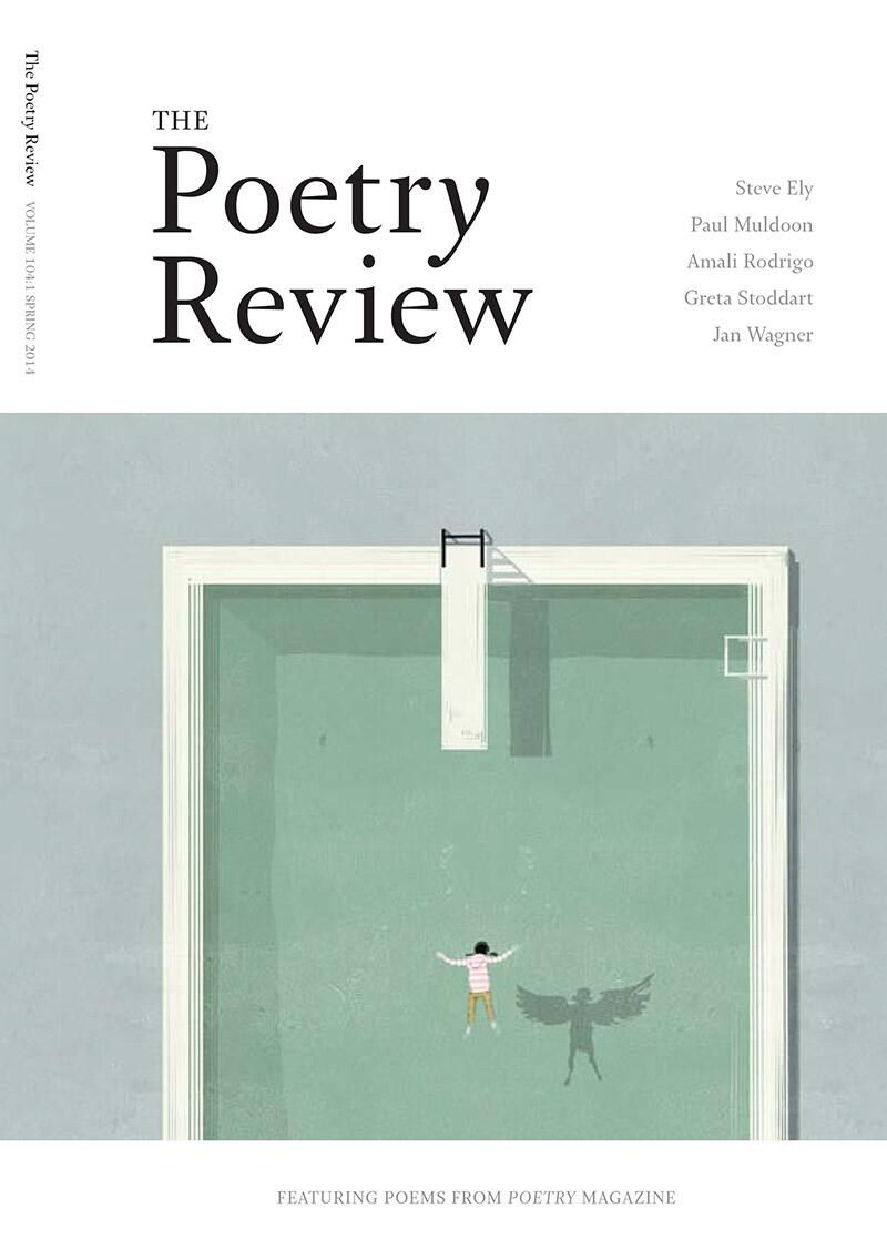 Magazine Cover - Title in black lettering in white stripe above image of a paper bird hanging from a doorway.