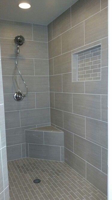 Horizontal Plank Tile Shower Master Bathroom Shower Bathroom