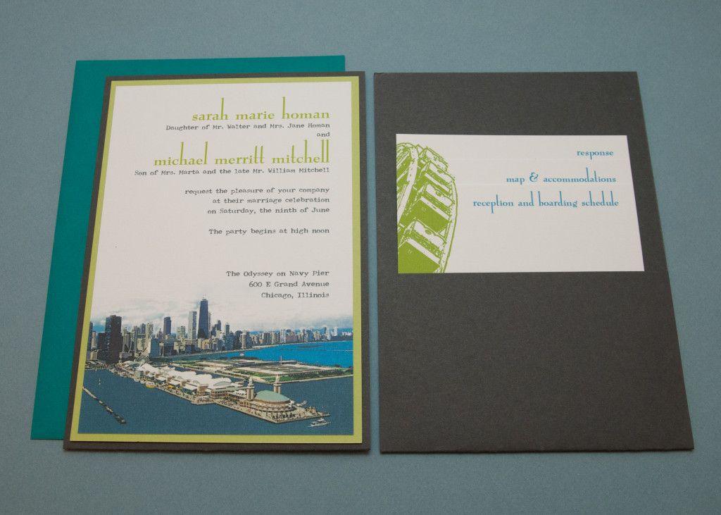 Spilled Ink Press | Chicago Wedding Invitations: vintage post card ...