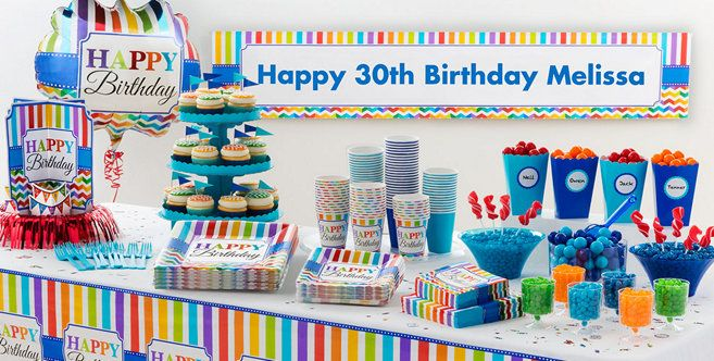 Bright Chevron Birthday Party Supplies
