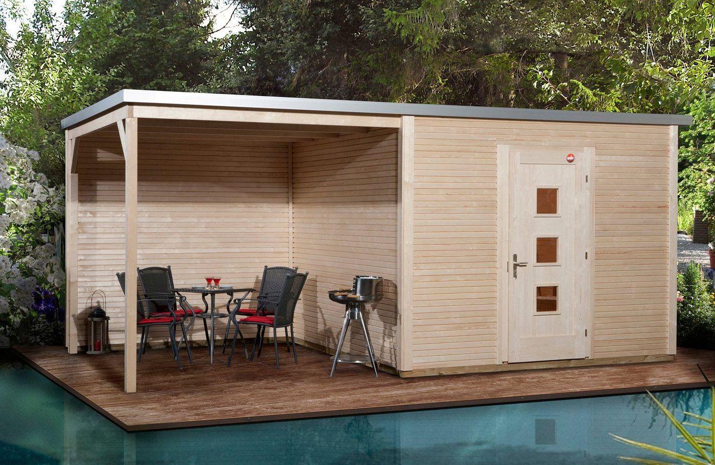 Gartenhaus, beige, Material Fichtenholz, weka