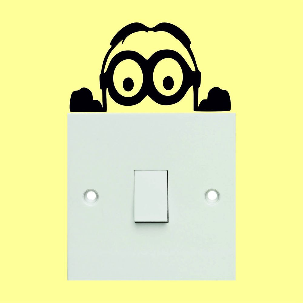 Minion light switch stickers - Wall Art Decal Stickers Quality New ...