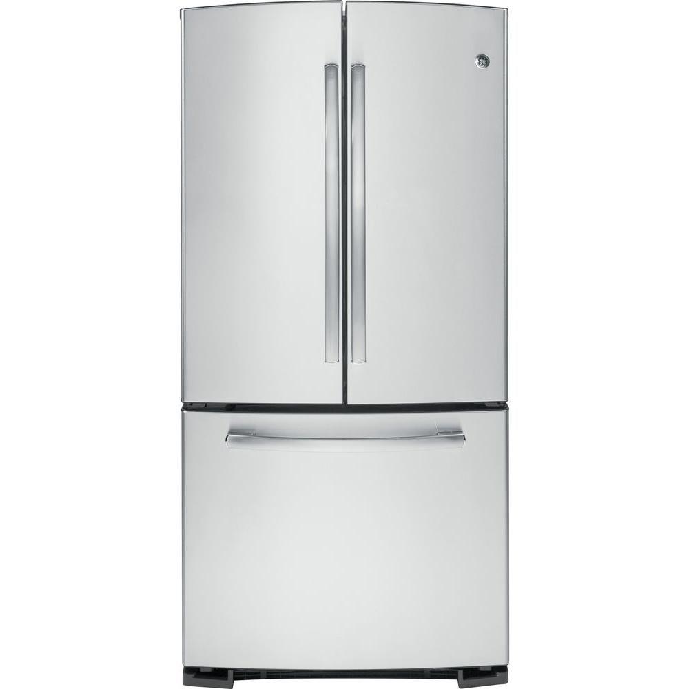 Ge 33 in w 227 cu ft french door refrigerator in