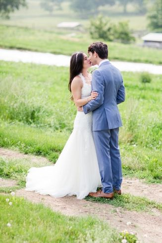 Bride and Groom in the Gardens at Stone Barns Wedding by Jessica Haley