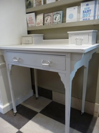 Best Arts And Crafts Desk Painted In Farrow Ball Cornforth 400 x 300