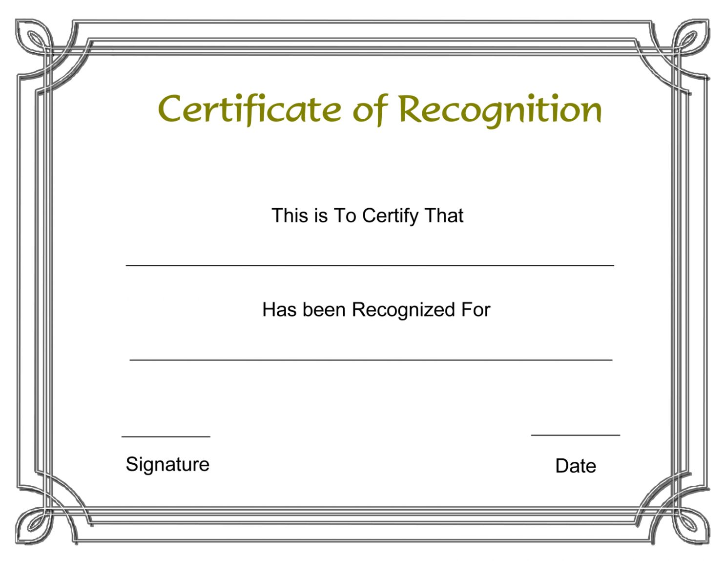 Browse Our Printable Lifetime Achievement Award Certificate Certificate Of Recognition Template Free Certificate Templates Certificate Of Achievement Template