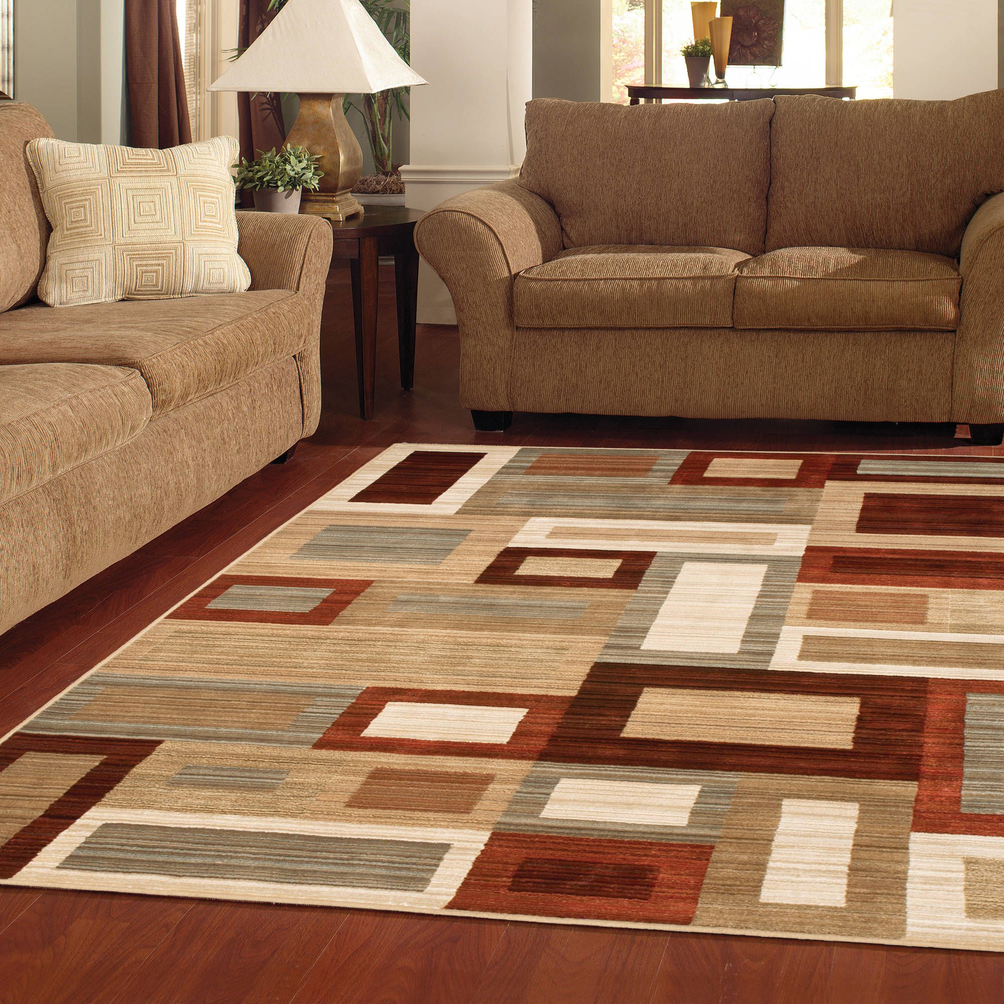better homes or gardens franklin squares area rug or runner