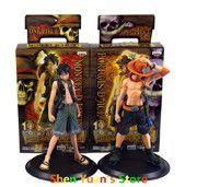 One Piece Monkey D Luffy Portagas D Ace PVC Figure Set 17cm Japanese Anime Toys Gifts