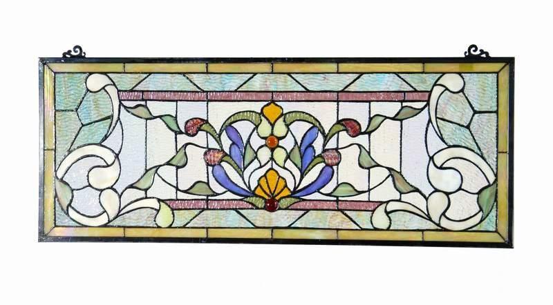Voorzetraam Tiffany 31 X 76 Cm 5400 Tiffany Voorzetramen En Glas In Lood Haddon Hall Tiffany Glas In Lood Glas Tiffany