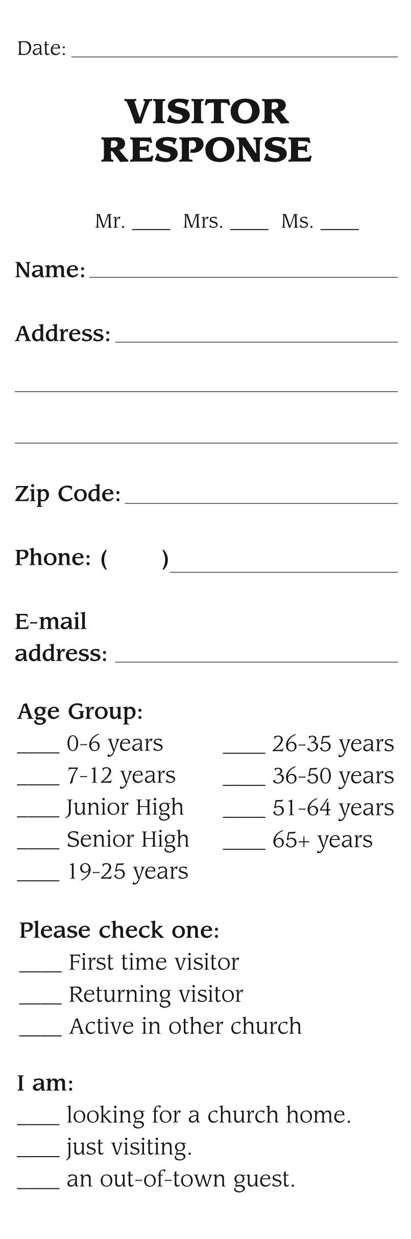 Visitor Response Tab Jpg 805 2422 Mail Template Program Template Templates
