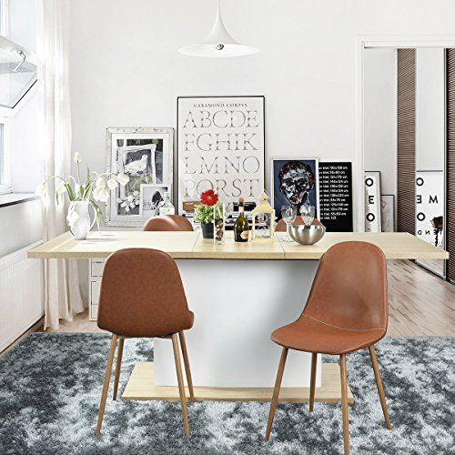 Modern Contemporary Urban Design Kitchen Dining Side Chair: Coavas Dining Table Adjustable Table Modern Design Wood