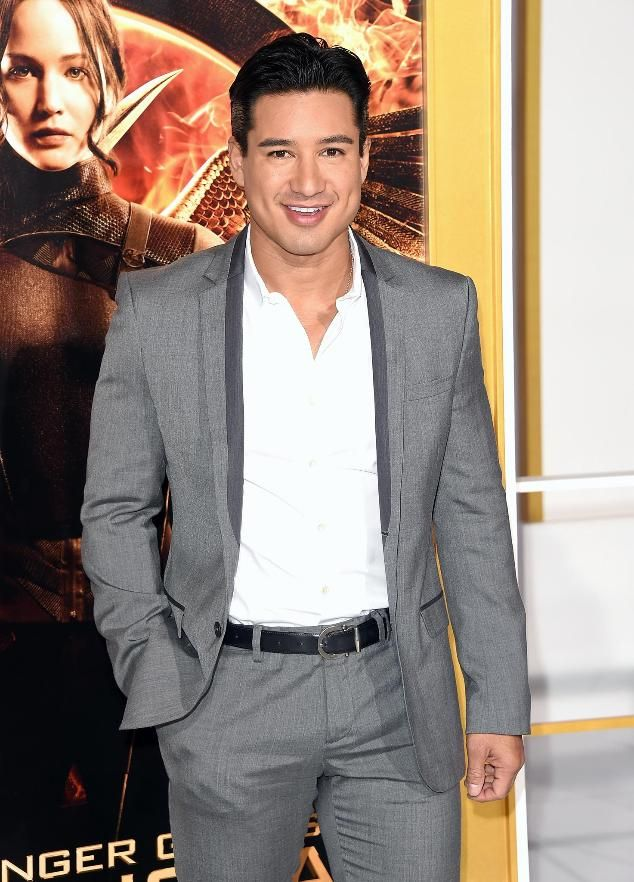 Mario Lopez arrives at the premiere of Lionsgate's 'The Hunger Games: Mockingjay - Part 1' at Nokia Theatre L.A. Live on November 17, 2014 in Los Angeles.