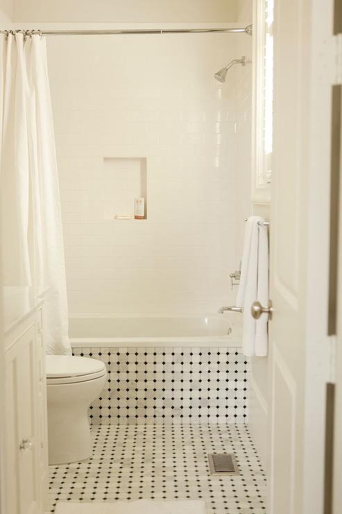 vintage tiled drop tub with shower niche vintage bathroom - Vintage Tub