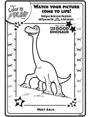 The Good Dinosaur Color and Play Activity | Arts & crafts ...