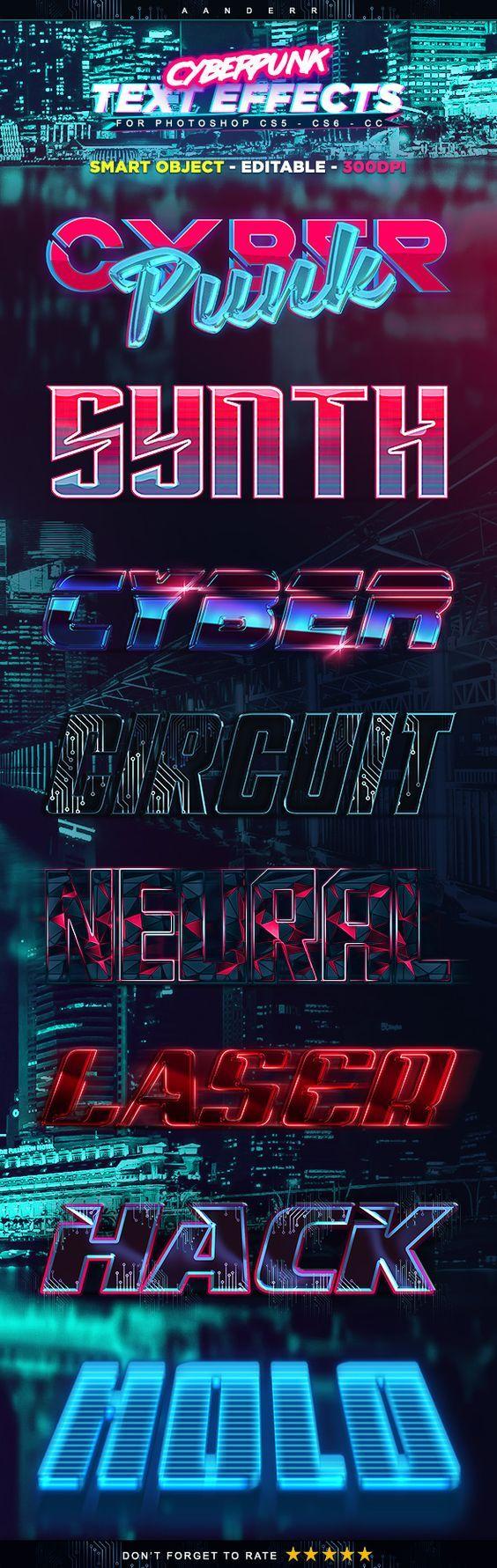 Cyberpunk Text Effects Text effects, styles
