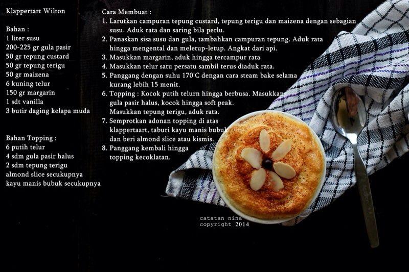 Klapertart Wilton Resep Masakan Masakan Resep Kue