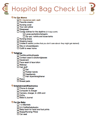 FREE Baby Needs Printable Check list! | Baby checklist