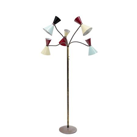 Wonderful Italian Floor Lamp in the Style of Stilnovo