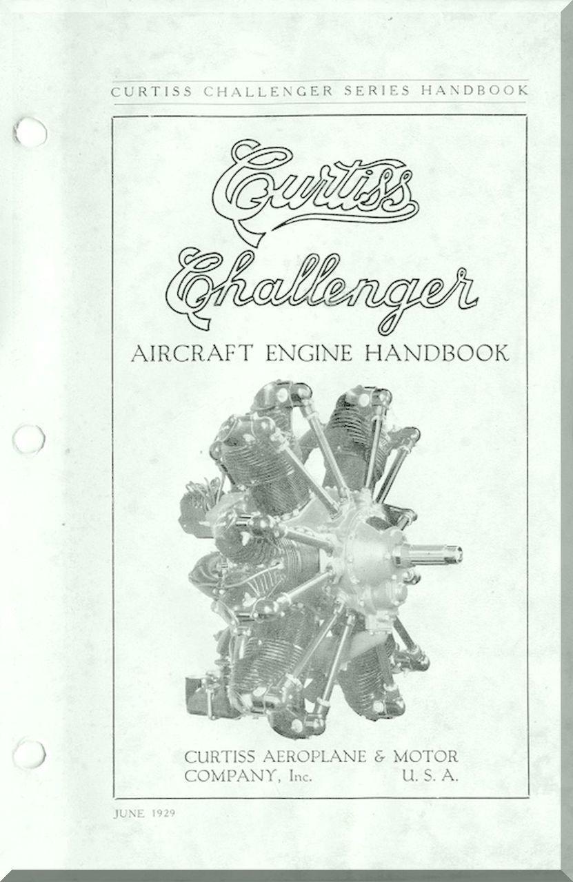 Curtiss R-600 Challenger Aircraft Engine Handbook Manual