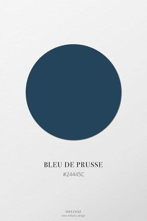 Bleu de Prusse | Nuancier bleu - Une palette de couleurs des différentes tonalités du champ chromatique bleu. #prusse #bleu #nuancier #couleur