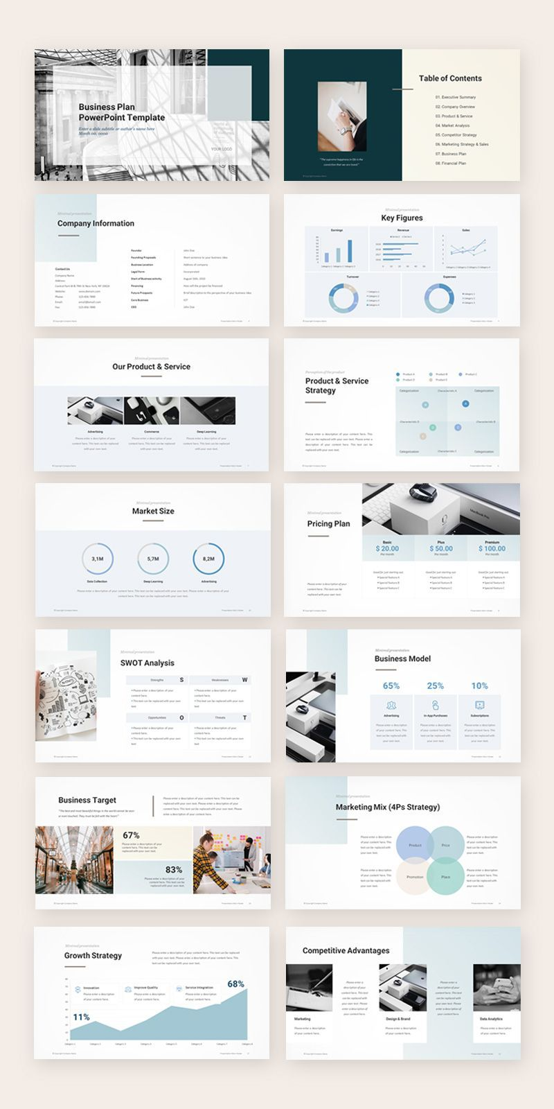 Business Plan Presentation Template in 2020 (mit Bildern