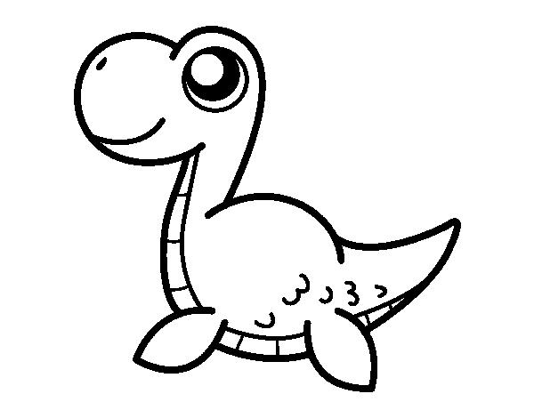 Dinosaurio Para Colorear Mandalas Para Con Dibujos De: Dibujo De Monstruo Del Lago Ness Para Colorear
