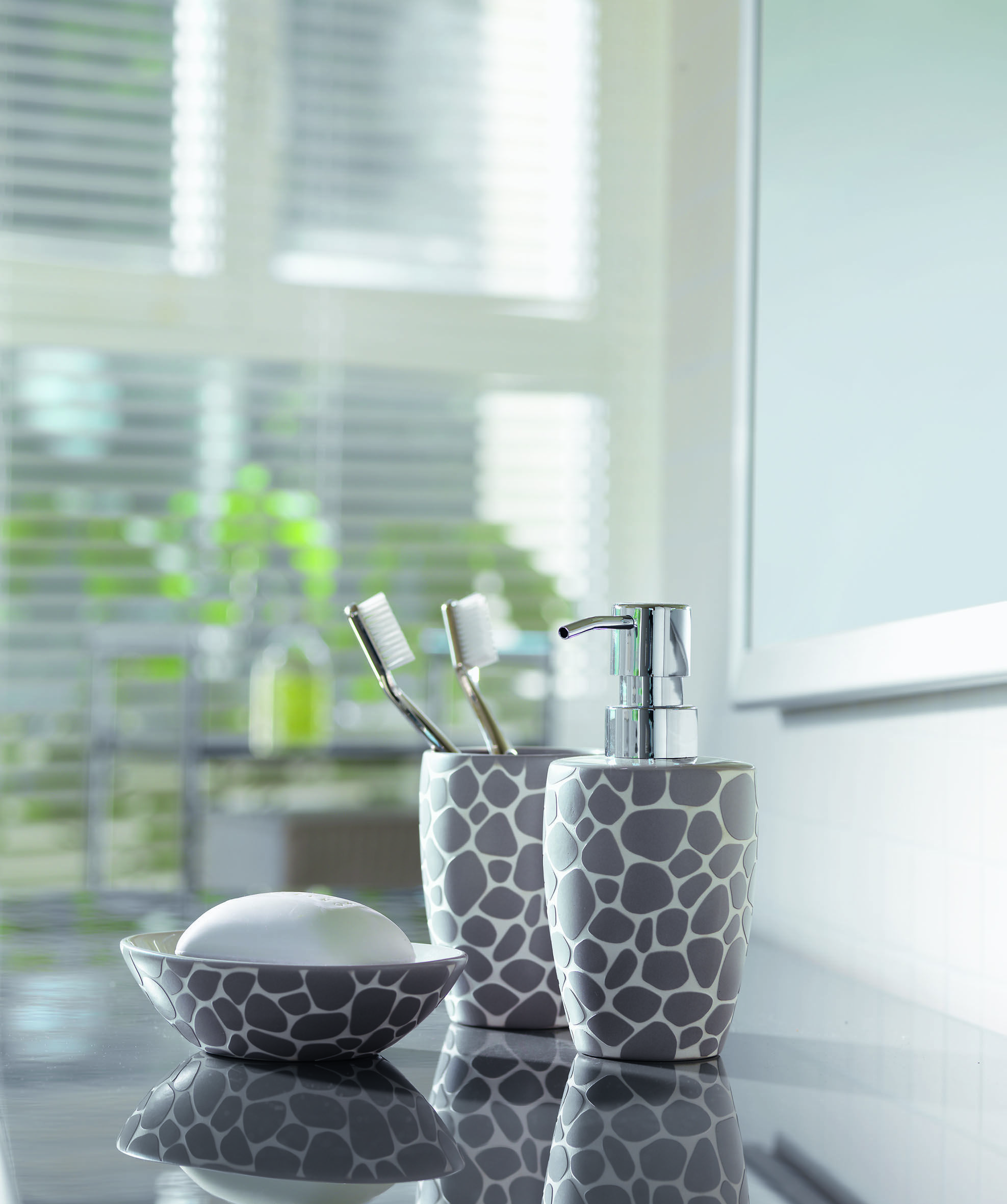 Spirella Darwin Pebble Grey Bathroom Accessories. #bathroom #grey ...