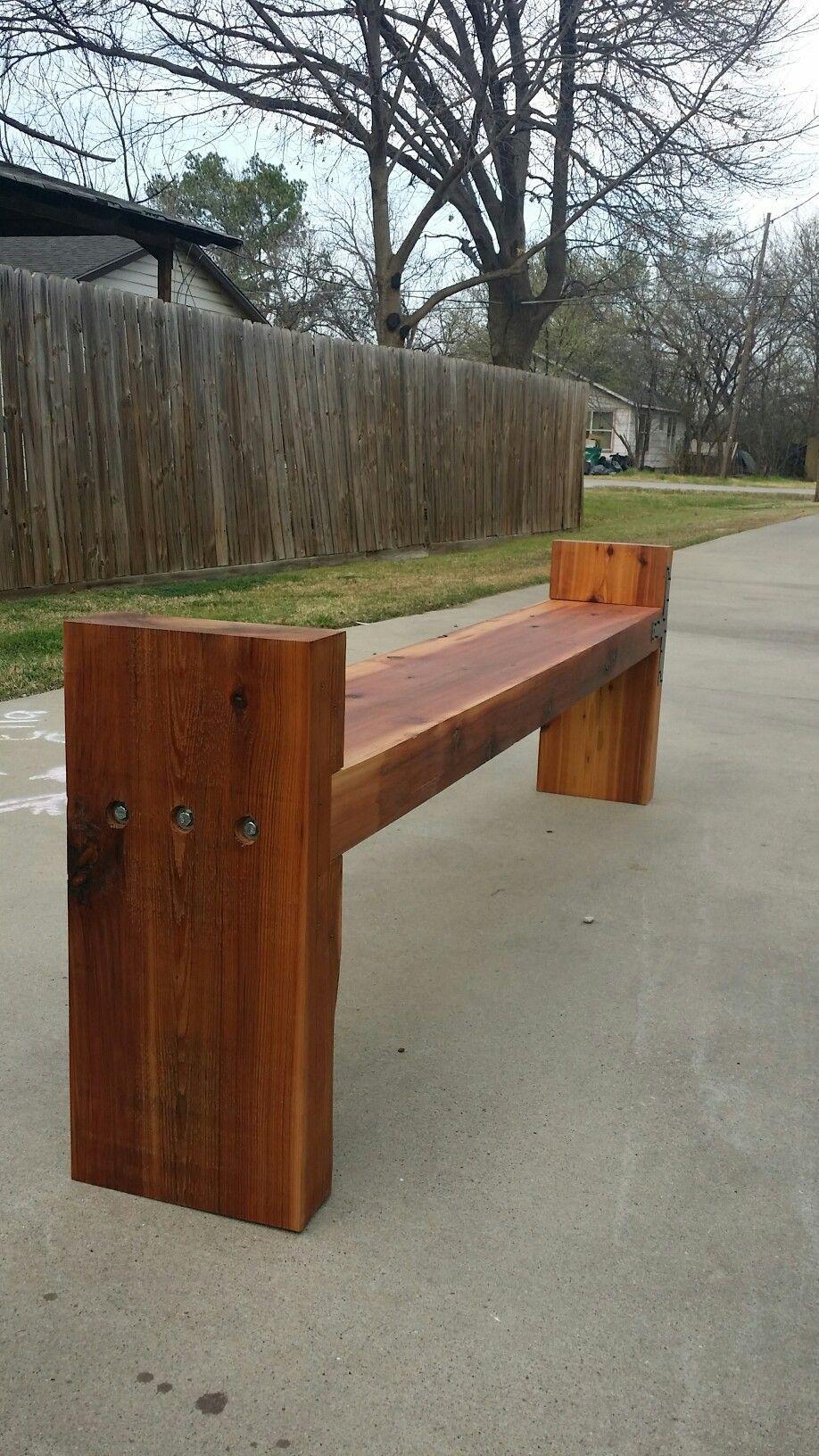 Hand made reclaimed cedar box joint bench coffee table by - 4x12 Cedar Bench