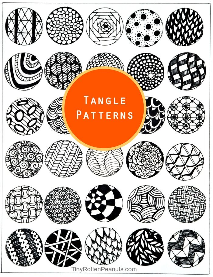Inspired By Zentangle Patterns and Starter Pages | Patrones ...