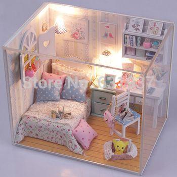 2015-nouvelle-arrivée-bricolage-maison-de-poupée-miniature-3D-en - Bricolage A La Maison
