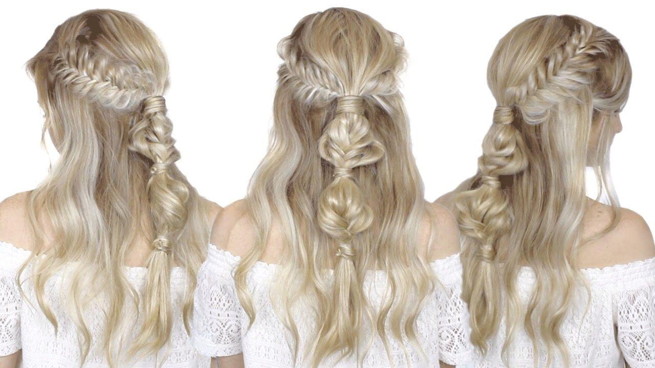 How to: Half-up Half-down Festival hair tutorial | Fishtail braid ...