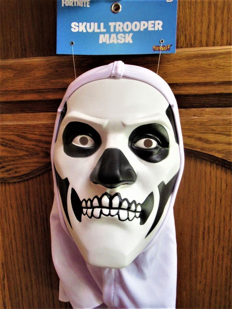 in stock fortnite skull trooper halloween costume hooded mask adult teen child