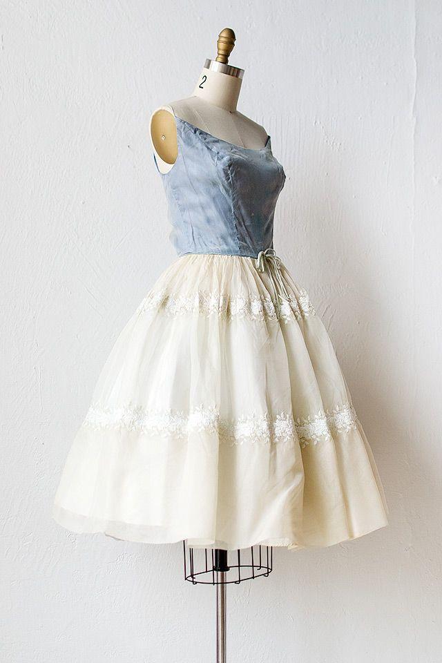 vintage 1960s blue satin chiffon party dress