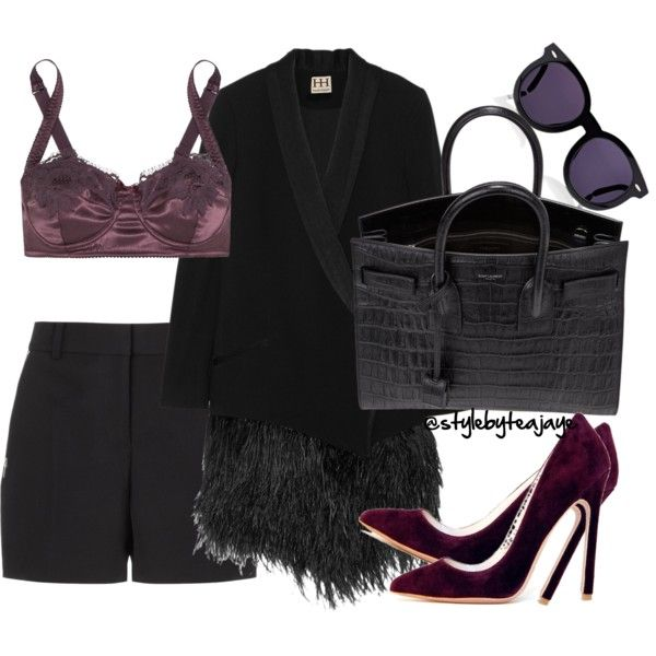 A fashion look from July 2016 featuring Haute Hippie blazers, Alexander Wang shorts and Dolce&Gabbana bras. Browse and shop related looks.