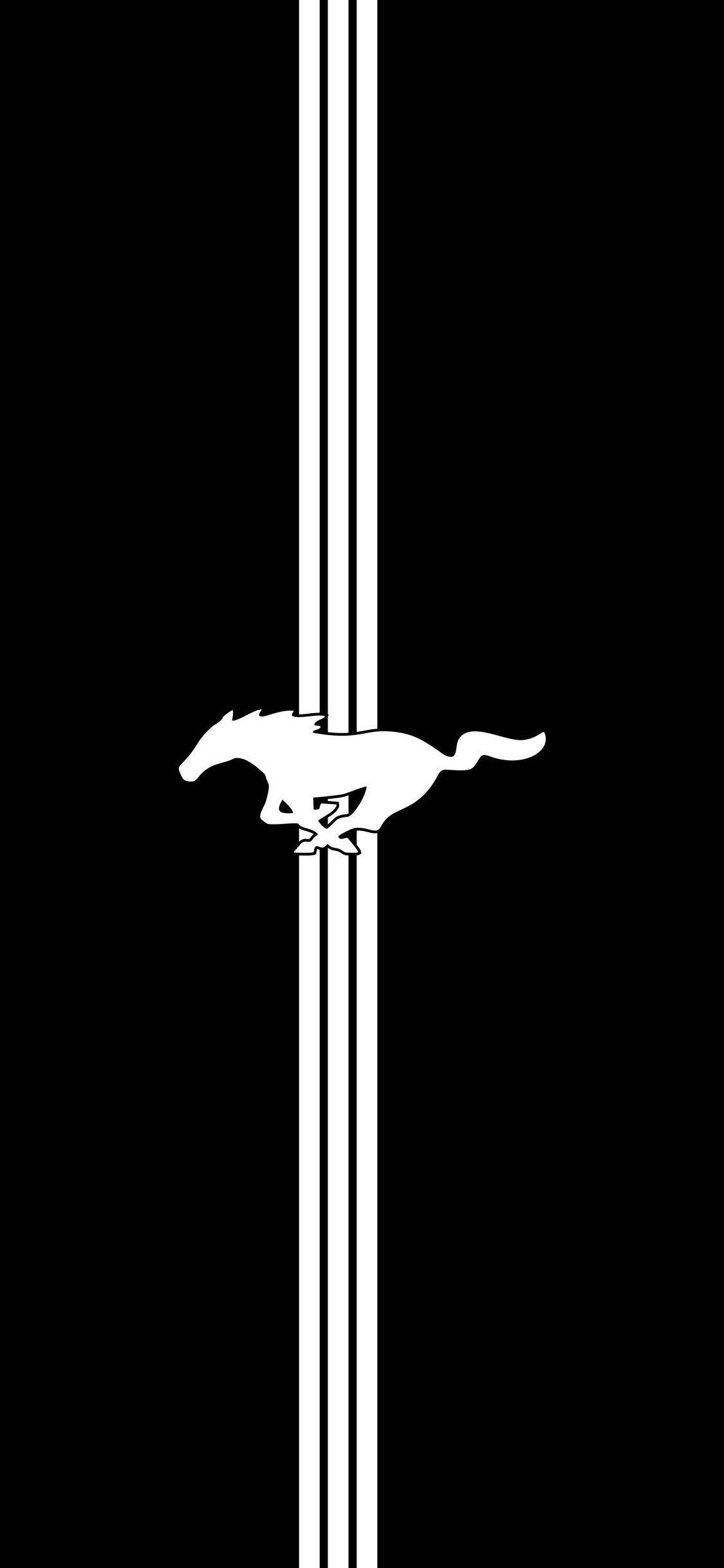#Wallpaper #iPhone #Car #Mustang #BlackAndWhite   Mustang ...