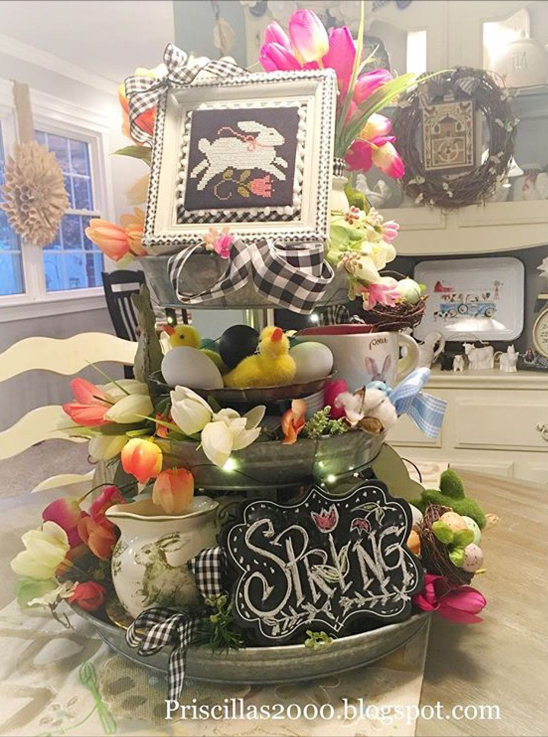 Wedding tray decoration ideas  Spring tiered tray  Easter  Pinterest  Trays Easter and Tray decor