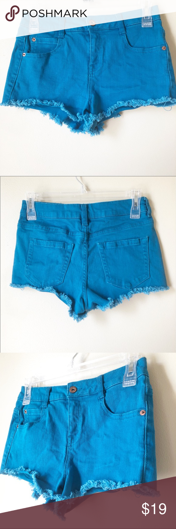 Forever 21 Turquoise Denim Shorts Clothes Design Fashion Trends Fashion