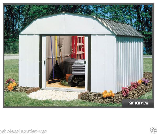 Arrow Sheds Concord Storage Shed 10 X 14 Building Diy Metal Shed Kit Co1014 Arrow Shed Metal Storage Sheds Diy Shed