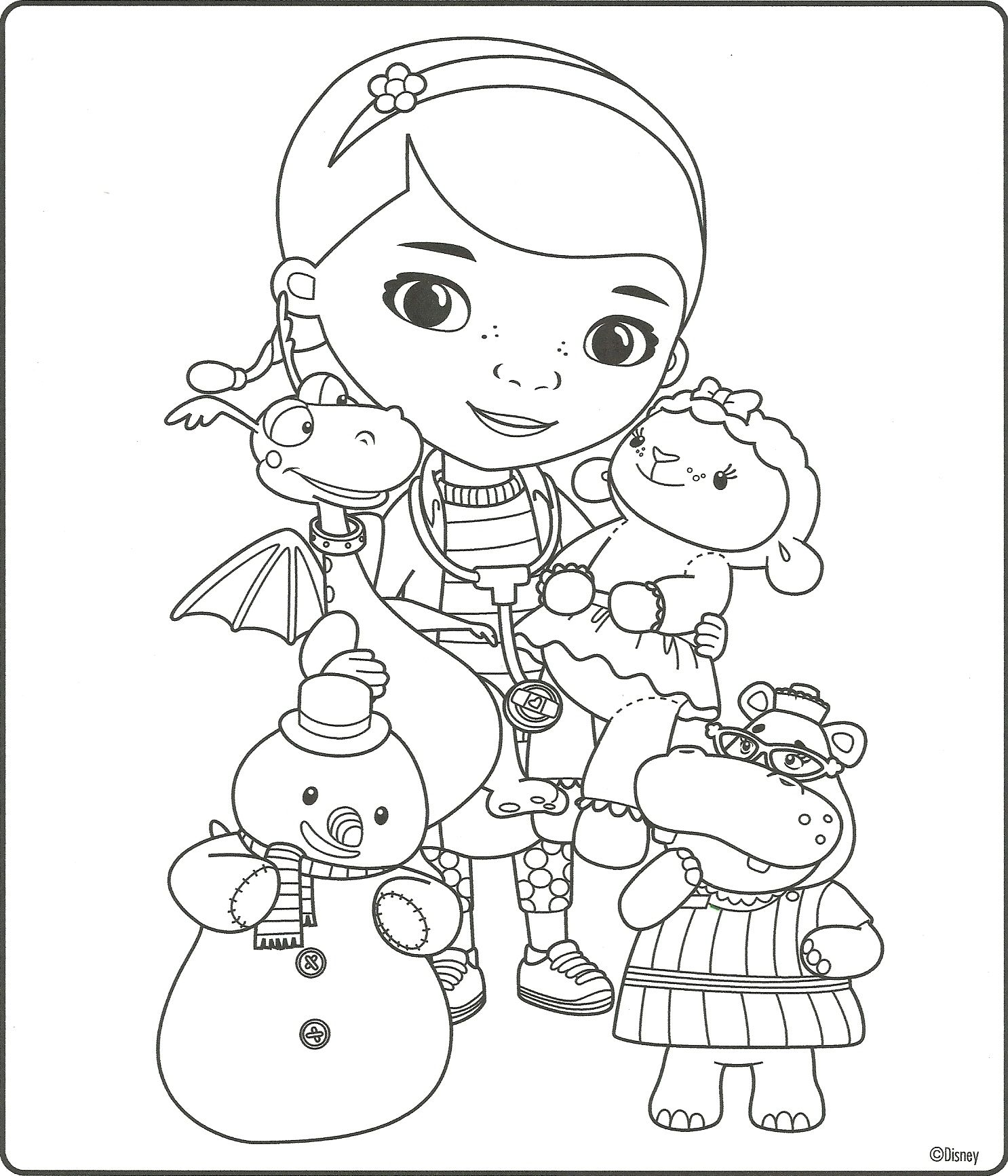 Doc Mcstuffins Coloring Page Doc Mcstuffins Coloring Pages