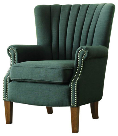 Best Homelegance Essex Accent Chair Blue Gray Transitional 400 x 300