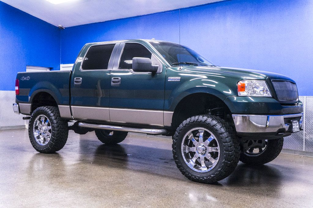Custom Lifted Green 2006 Ford F 150 Xlt 4x4 Truck For Sale