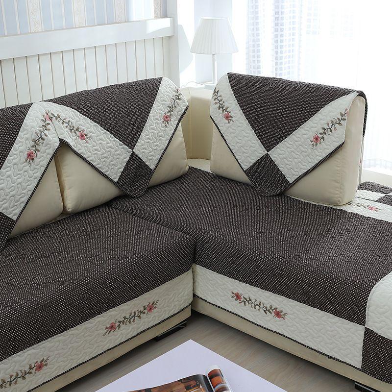 Foderare Cuscini Del Divano.100 Cotone Sofa Cover Set Caffe Sezionale Fodera Moderna Magico
