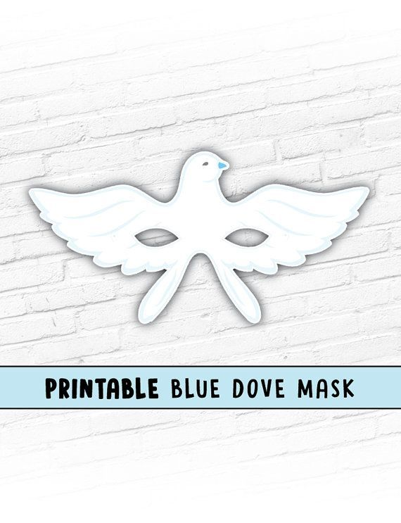 photograph relating to Et Mask Printable called Printable Dove Mask Blue Dove Mask Printable Animal Mask