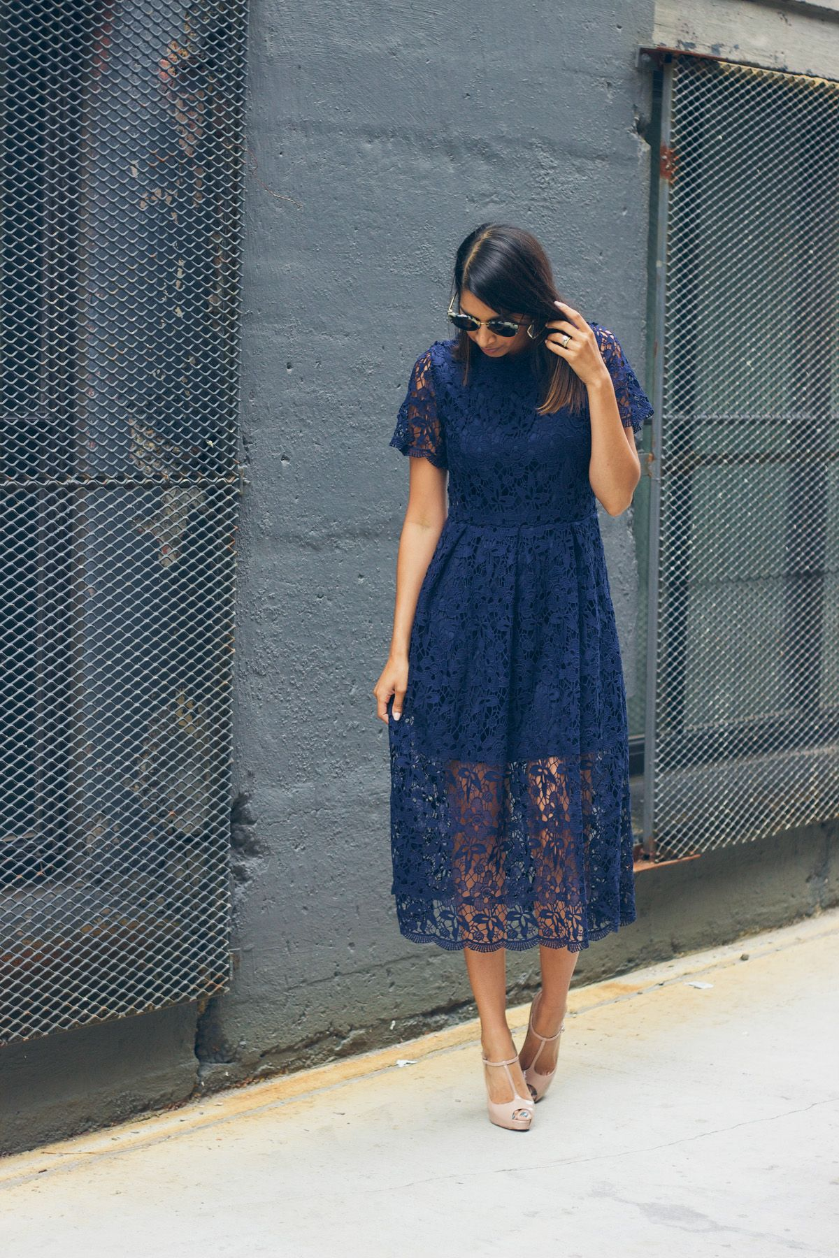 Winter wedding guest lace dresses for Navy dress for fall wedding