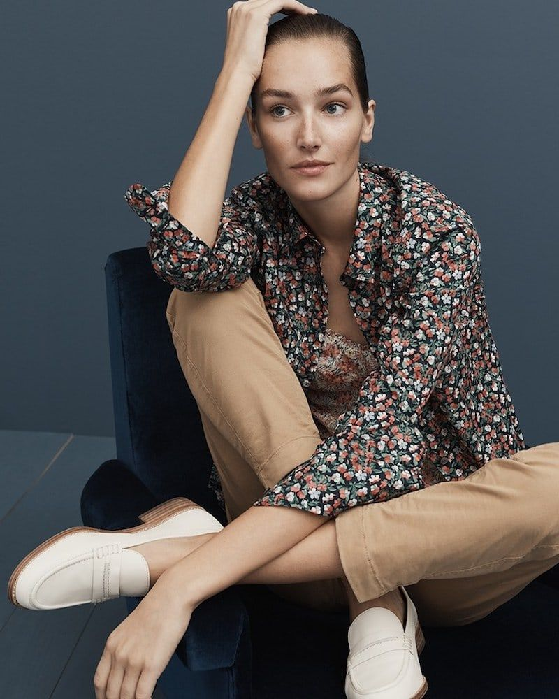 ffd9e95b2dcaa J.Crew Slim Perfect Shirt In Liberty Sarah Floral